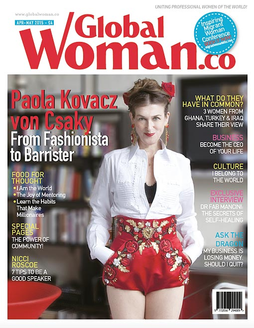 Global Woman magazine April / may 2015